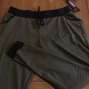 Hot Kiss Pants - Olive green patterned joggers NWT